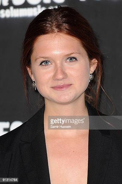 Actress Bonnie Wright arrives at the DieselUMusic World Tour Party held at the University of Westminster on October 1 2009 in London England