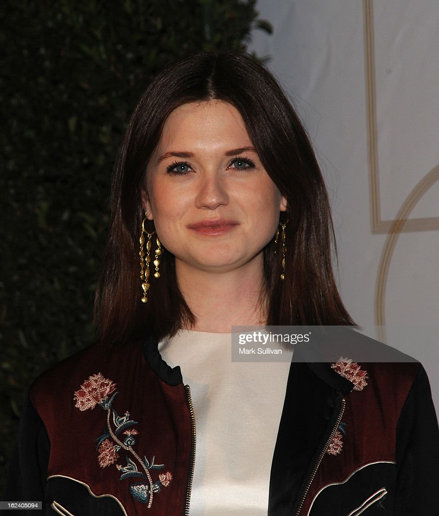 Actress Bonnie Wright arrives at the LOVEGOLD cocktail party to celebrate 'How To Survive A Plague' at Chateau Marmont on February 22, 2013 in Los Angeles, California.