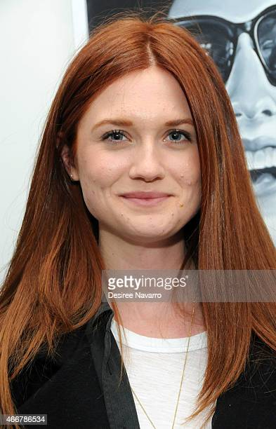 Actress Bonnie Wright attends Tali Lennox Exhibition Opening Reception at Catherine Ahnell Gallery on March 18 2015 in New York City