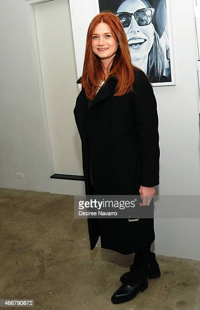Actress Bonnie Wright attends Tali Lennox Exhibition Opening Reception at Catherine Ahnell Gallery on March 18, 2015 in New York City.
