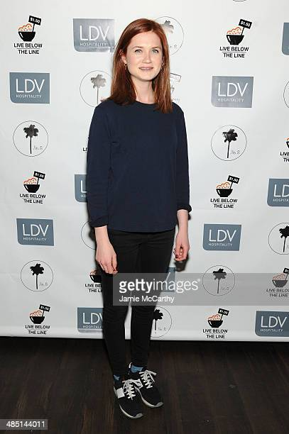 Actress Bonnie Wright attends the Global Poverty Project and LDV Hospitality special event kicking off the 2014 Live Below the Line campaign to...