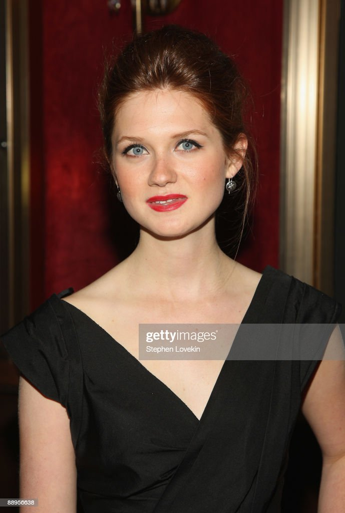 Actress Bonnie Wright attends the 'Harry Potter and the Half-Blood Prince' premiere at Ziegfeld Theatre on July 9, 2009 in New York City.
