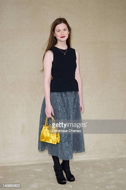 Actress Bonnie Wright attends the Miu Miu ReadyToWear Fall/Winter 2012 show as part of Paris Fashion Week on at Grand Palais on March 7 2012 in Paris...