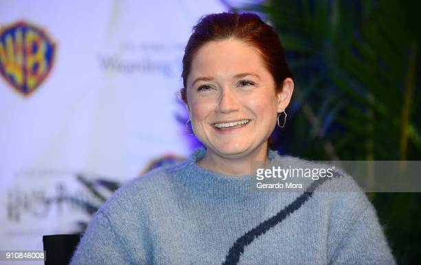 Actress Bonnie Wright smiles during a QA session at the annual 'A Celebration of Harry Potter' at Universal Orlando on January 26 2018 in Orlando...