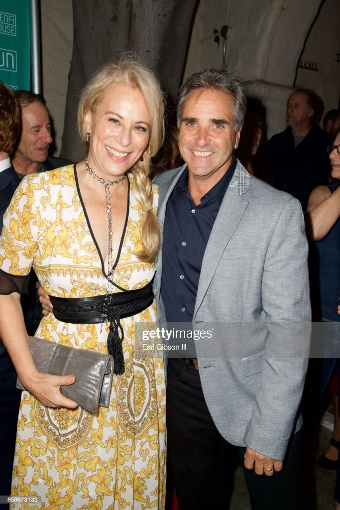 Actress Brad King and Jane Kaczmarek pose for a photo at the Pasadena Playhouse And Deaf West Theatre's 'Our Town' Opening Night at Pasadena Playhouse on October 1, 2017 in Pasadena, California.