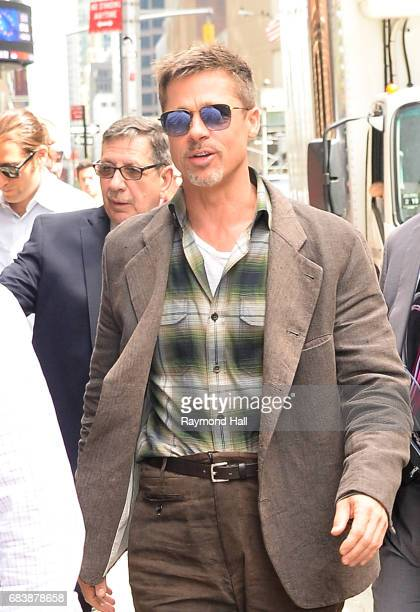 Actress Brad Pitt is seen arrived at the 'The Late Show With Stephen Colbert' on May 16 2017 in New York City