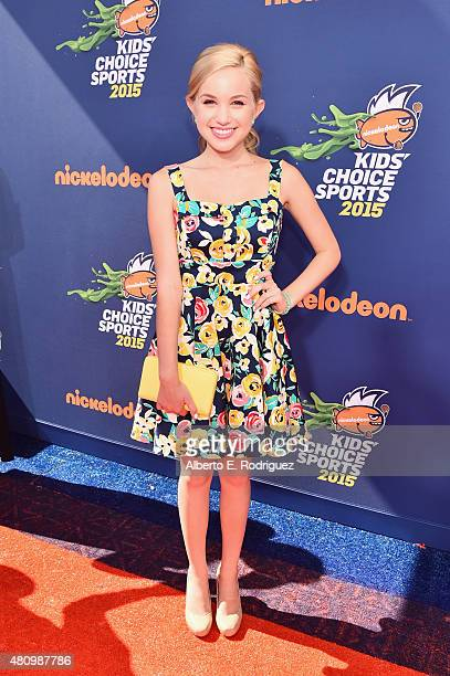 Actress Brady Reiter attends the Nickelodeon Kids' Choice Sports Awards 2015 at UCLA's Pauley Pavilion on July 16 2015 in Westwood California