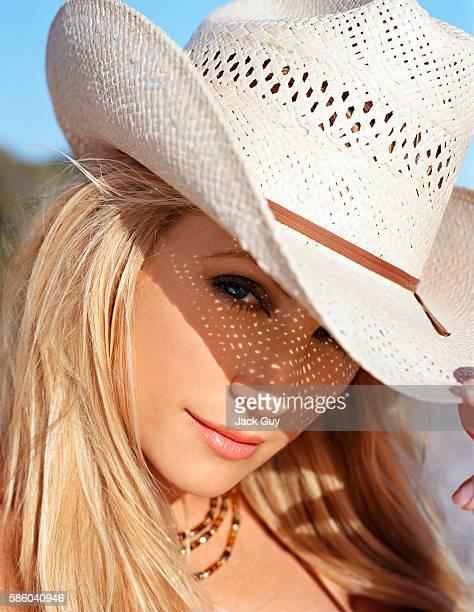 Actress Brande Roderick is photographed for Cigar Aficionado in 2004 in Los Angeles California