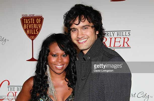 Actress Brandee Tucker and husband actor Michael Steger attend The Taste of Beverly Hills wine food festival opening night on September 2 2010 in...