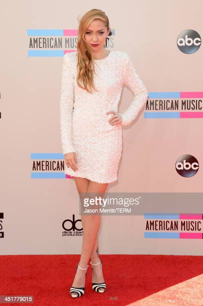 Actress Brandi Cyrus attends the 2013 American Music Awards at Nokia Theatre LA Live on November 24 2013 in Los Angeles California