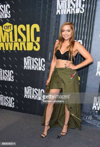 Actress Brandi Cyrus attends the 2017 CMT Music Awards at the Music City Center on June 7 2017 in Nashville Tennessee