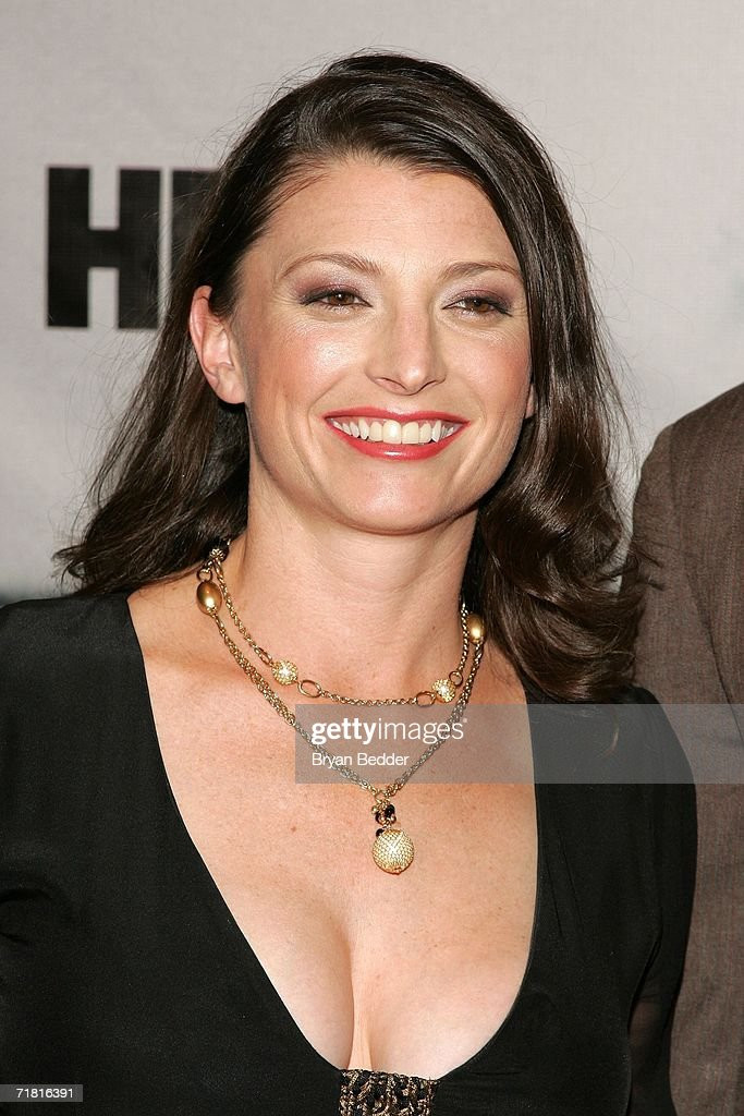 Actress Brandy Burre arrives at the premiere of HBOs The