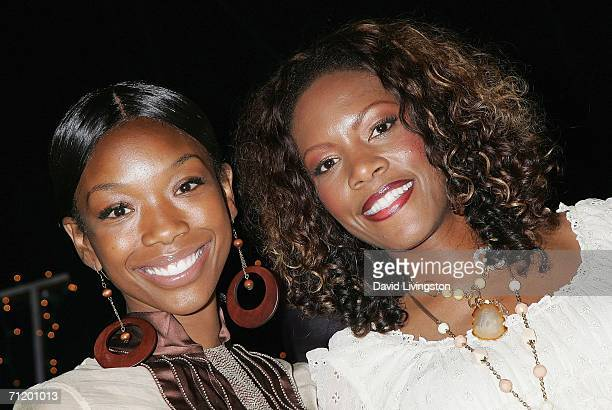 Actress Brandy Norwood and musician Shauney Baby attend the 14th annual American Society of Young Musicians' House of Blues Spring Benefit Concert...
