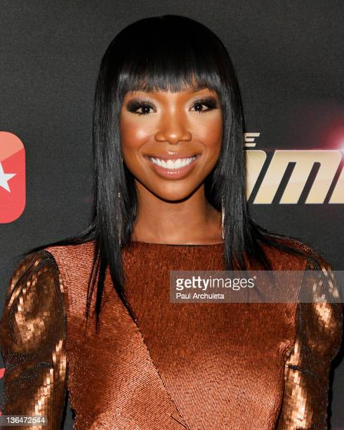 Actress Brandy Norwood attends BET's premiere party for The Game and Let's Stay Together at The Hollywood Roosevelt Hotel on January 5 2012 in...