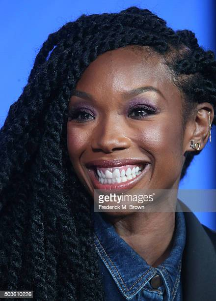Actress Brandy Norwood speaks onstage during the BETZoe Ever After panel as part of the Viacom portion of This is Cable 2016 Television Critics...