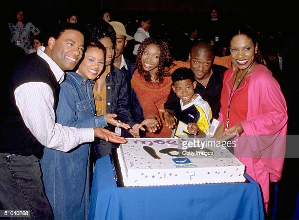 Actress Brandy Star Of Upn's Moesha And Her Castmates William Allen Young Yvette Wilson Shar Jackson Ray J Marcus T Paulk Lamont Bentley And Sheryl...