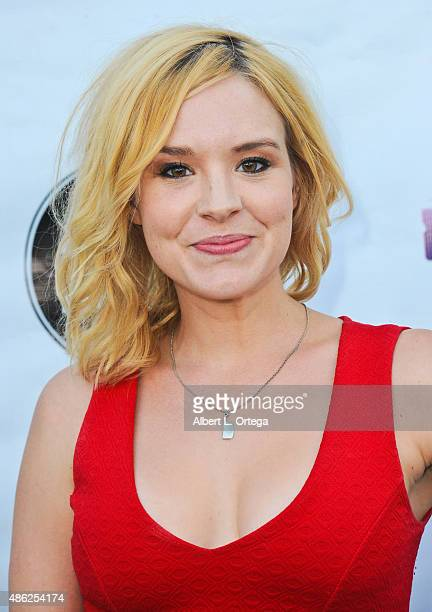 Actress Brea Grant arrives for the Etheria Film Night 2015 held at American Cinematheque's Egyptian Theatre on June 13, 2015 in Hollywood, California.