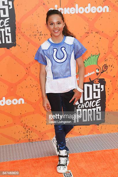 Actress Breanna Yde arrives at the Nickelodeon Kids' Choice Sports Awards 2016 at the UCLA's Pauley Pavilion on July 14 2016 in Westwood California