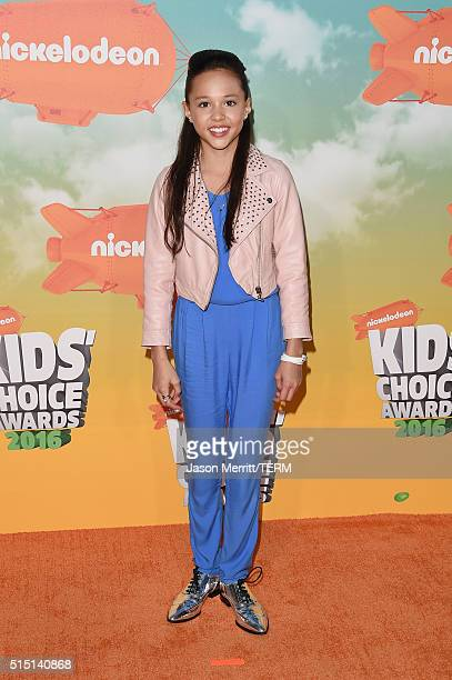 Actress Breanna Yde attends Nickelodeon's 2016 Kids' Choice Awards at The Forum on March 12 2016 in Inglewood California