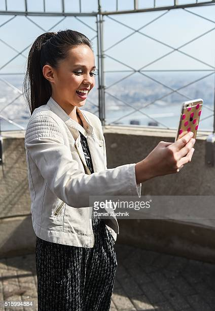 Breanna yde pictures and photos getty images actress breanna yde visits the empire state building on march 16 2016 in new york city thecheapjerseys Image collections
