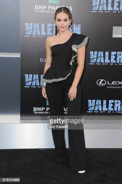 Actress Brec Bassinger arrives at the Los Angeles Premiere 'Valerian And The City Of A Thousand Planets' at TCL Chinese Theatre on July 17 2017 in...