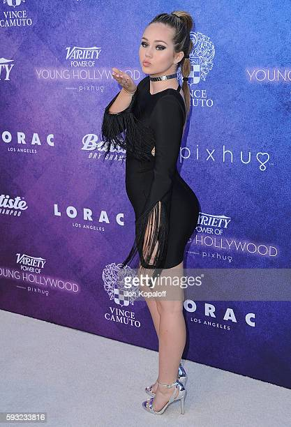 Actress Brec Bassinger arrives at Variety's Power Of Young Hollywood at NeueHouse Hollywood on August 16 2016 in Los Angeles California
