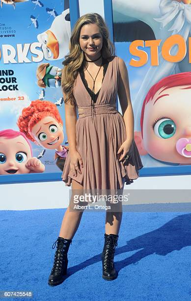 Actress Brec Bassinger arrives for the Premiere Of Warner Bros Pictures' 'Storks' held at Regency Village Theatre on September 17 2016 in Westwood...