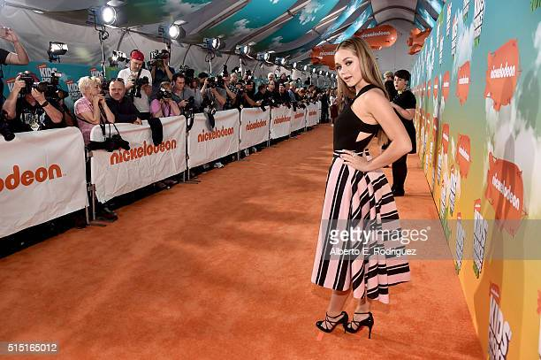 Actress Brec Bassinger attends Nickelodeon's 2016 Kids' Choice Awards at The Forum on March 12 2016 in Inglewood California