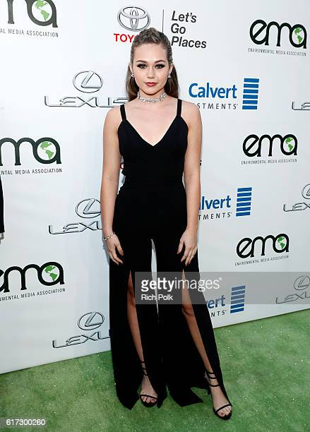 Actress Brec Bassinger attends the Environmental Media Association 26th Annual EMA Awards Presented By Toyota Lexus And Calvert at Warner Bros...