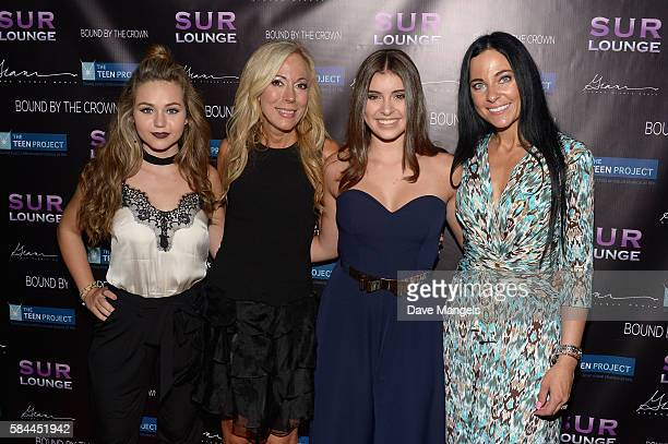 Actress Brec Bassinger Founder of The Teen Project Lauri Burns dancer Kalani Hilliker and Susanna Paliotta attend Teen Project LA's 2016 Teen Dream...
