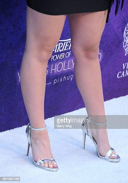 Actress Brec Bassinger shoe detail attends Variety's Power of Young Hollywood event presented by Pixhug with platinum sponsor Vince Camuto at...