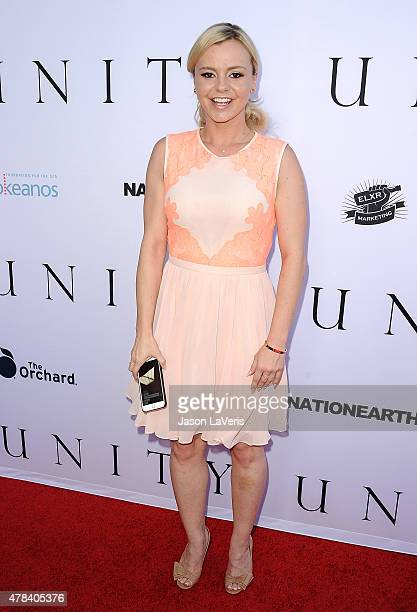 Actress Bree Olson attends the world premiere screening of Unity at DGA Theater on June 24 2015 in Los Angeles California