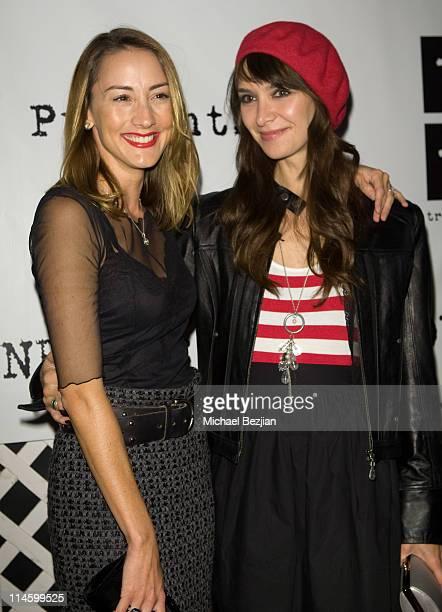 Actress Bree Turner and actress Lindsay Zir attend the Contempoary West Coast Premiere of American Artist Chuck Connelly at Trigg Ison Fine Art on...