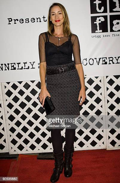 Actress Bree Turner attends the Contempoary West Coast Premier of American Artist Chuck Conelly at Trigg Ison Fine Art on October 29 2009 in Los...