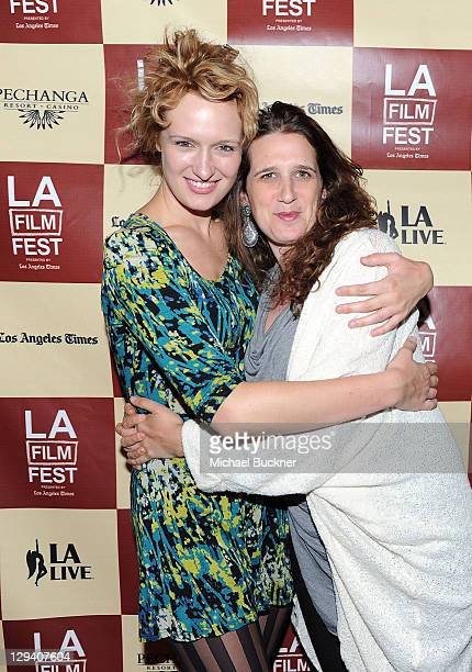 """Actress Breeda Wool and filmmaker Deb Shoval attend """"Shorts Program 3"""" during the 2011 Los Angeles Film Festival held at Regal Cinemas L.A. LIVE on..."""