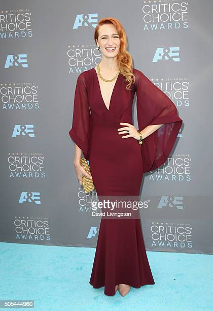 Actress Breeda Wool attends The 21st Annual Critics' Choice Awards at Barker Hangar on January 17 2016 in Santa Monica California