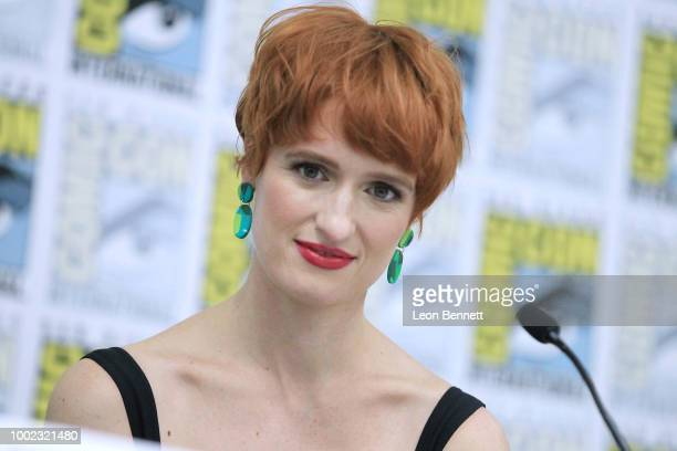 Actress Breeda Wool attends the Official Mr Mercedes Panel At 2018 San Diego ComicCon at San Diego Convention Center on July 19 2018 in San Diego...