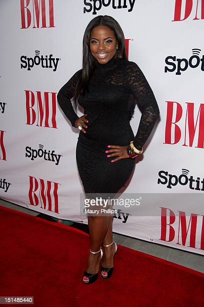Actress Brely Evans arrives at the 2012 BMI Urban Awards honoring Mariah Carey at the Saban Theatre on September 7 2012 in Beverly Hills California