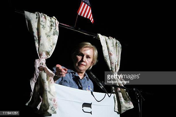 Actress Brenda Currin performs on stage at the 40th Anniversary MusicTheatre Jam at 10 Jay Street Dumbo on April 9 2011 in New York City