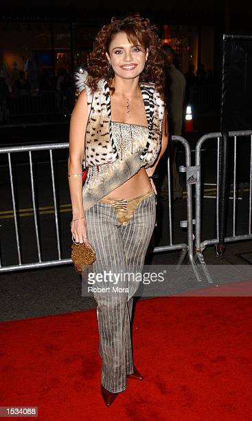 Actress Brenda Mejia attends the 2002 Ritmo Latino Awards at the Kodak Theatre on October 25 2002 in Hollywood California