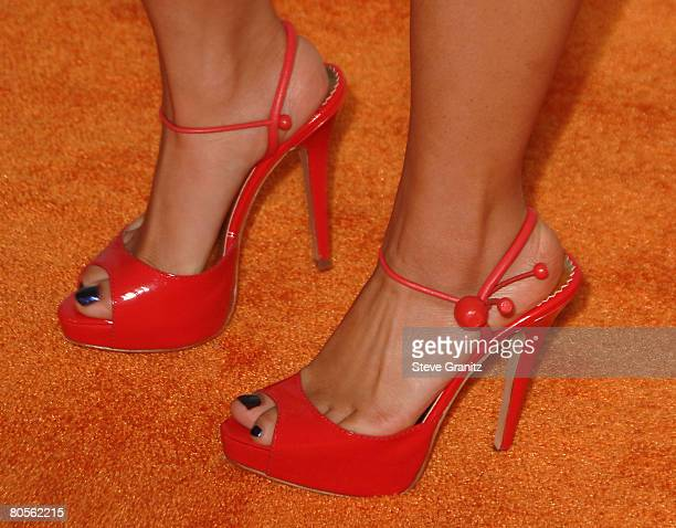 Actress Brenda Song arrives at Nickelodeon's 2008 Kids' Choice Awards held at the Pauley Pavilion on March 29 2008 in Westwood California