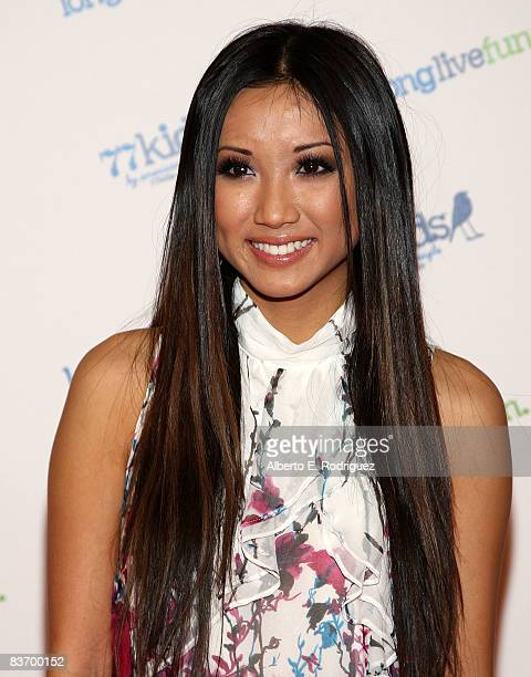 Actress Brenda Song arrives at the Jonas Brothers' launch party for 77kids held at the Roxy on November 14 2008 in Los Angeles California