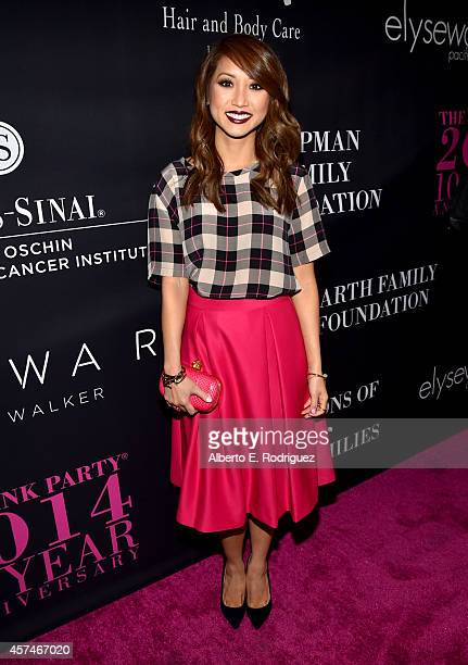 Actress Brenda Song attends Elyse Walker presents the 10th anniversary Pink Party hosted by Jennifer Garner and Rachel Zoe at HANGAR8 on October 18...
