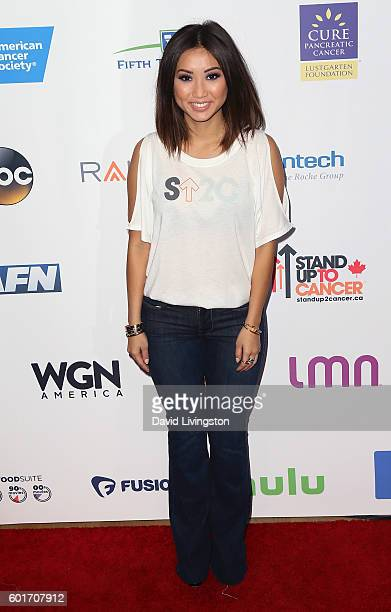Actress Brenda Song attends Hollywood Unites for the 5th Biennial Stand Up To Cancer a program of the Entertainment Industry Foundation at Walt...