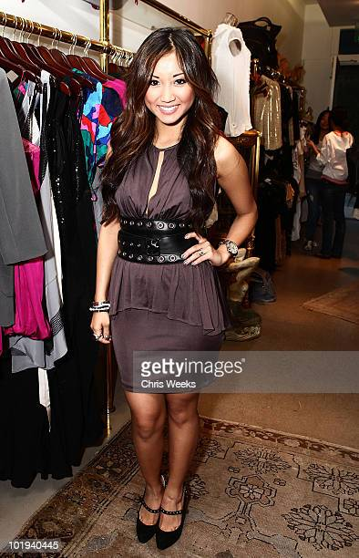 Actress Brenda Song attends the Foley Corinna Melrose Avenue Event With Poshglamcom at Foley Corinna on June 9 2010 in Los Angeles California