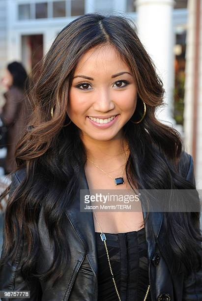 Actress Brenda Song poses during the Self Magazine The Nine Rooms for Happiness book launch party held at a private residence on April 29 2010 in...