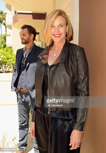 Actress Brenda Strong and John FarmaneshBocca attend the HBO Luxury Lounge featuring PANDORA at Four Seasons Hotel Los Angeles at Beverly Hills on...