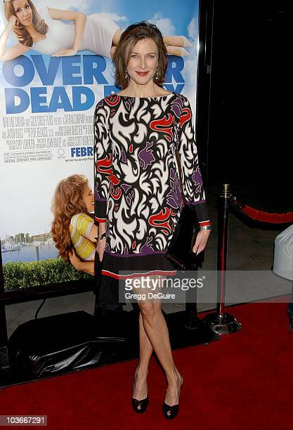 Actress Brenda Strong arrives at Over Her Dead Body Los Angeles premiere at the ArcLight Hollywood Theatre on January 29 2008 in Hollywood California