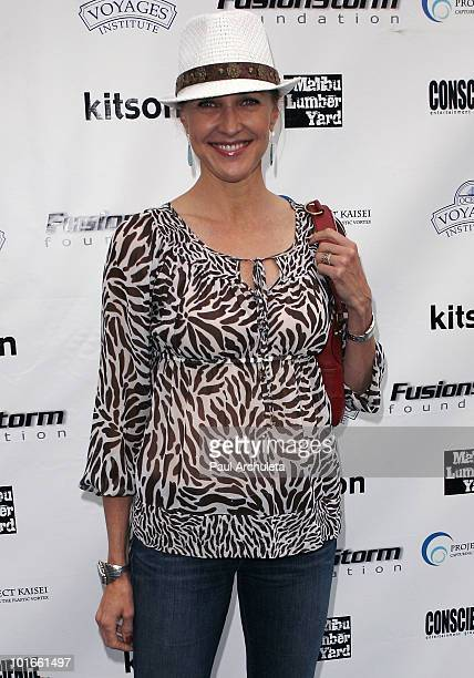 Actress Brenda Strong arrives at the 1st annual 'My Ocean Planet' fundraiser benefitting project Kaisei at The Malibu Lumber Yard on June 5 2010 in...