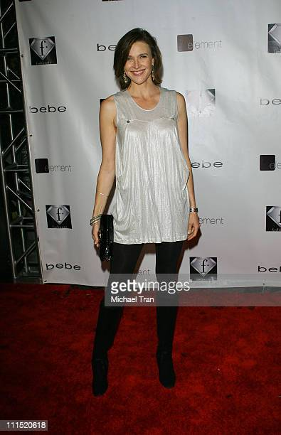 Actress Brenda Strong arrives at the bebe lingerie launch party held at Element nightclub on February 13 2008 in Hollywood California
